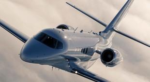 Cessna Citation Latitude jet in flight