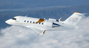 Bombardier Challenger 650 new aircraft in the air