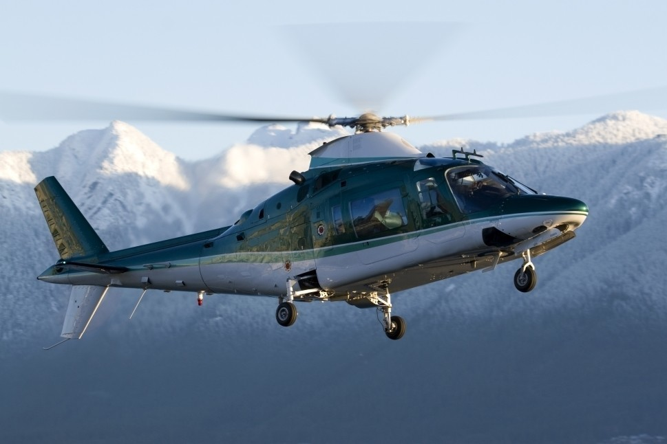 Private Helicopter in Operation