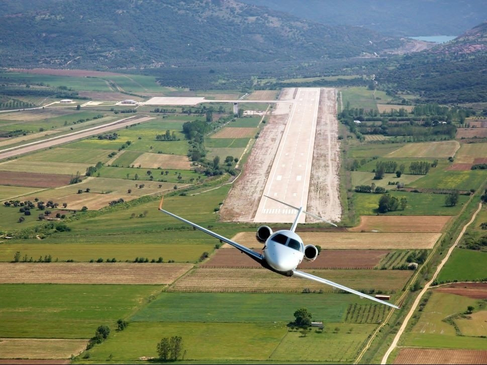 Private Jet Leaves Airport
