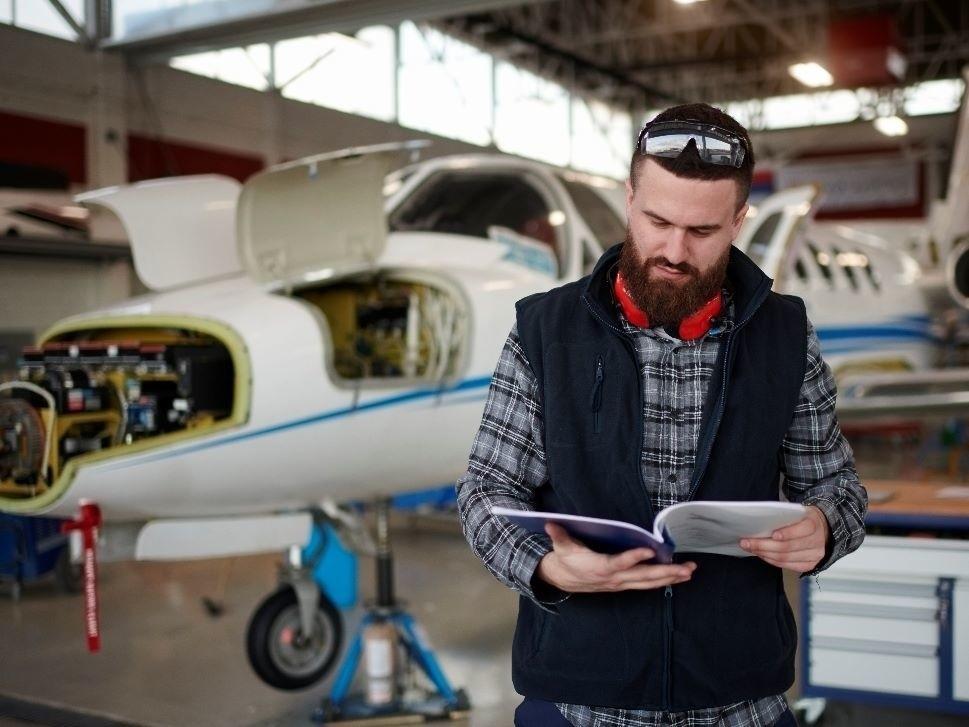 Aircraft Broker at Pre-Buy Inspection