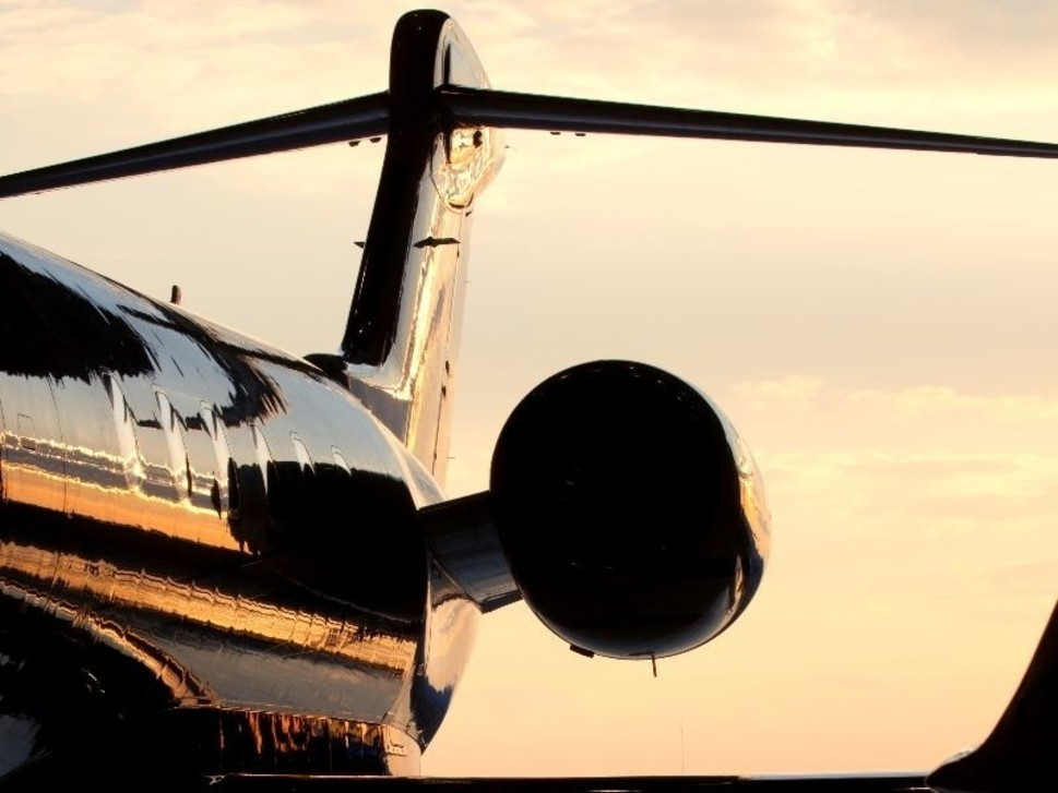 Gulfstream Private Jet at Sunset