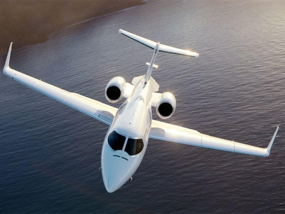 Learjet 31 In Flight