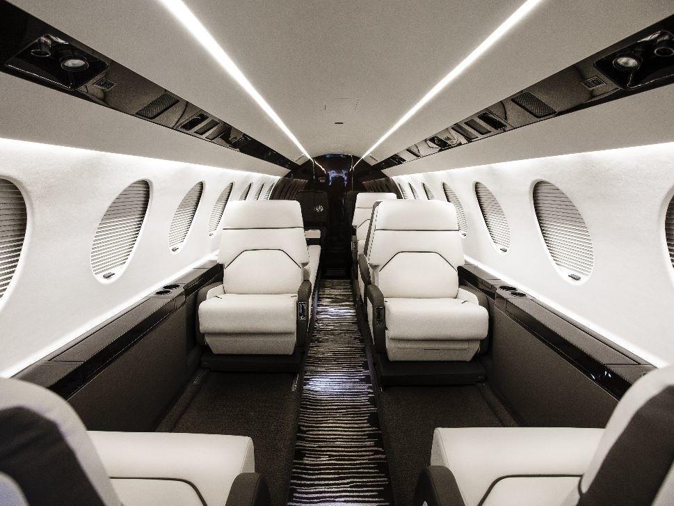 Newly Refurbished Dassault Falcon 50EX Cabin