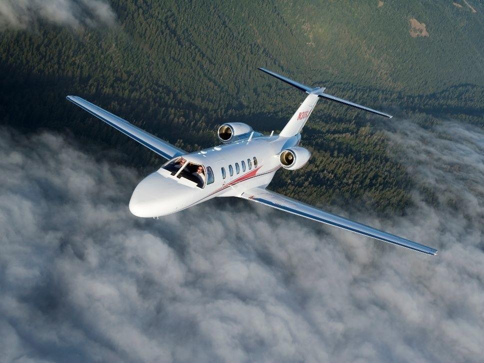 Cessna Citation CJ2 in-flight