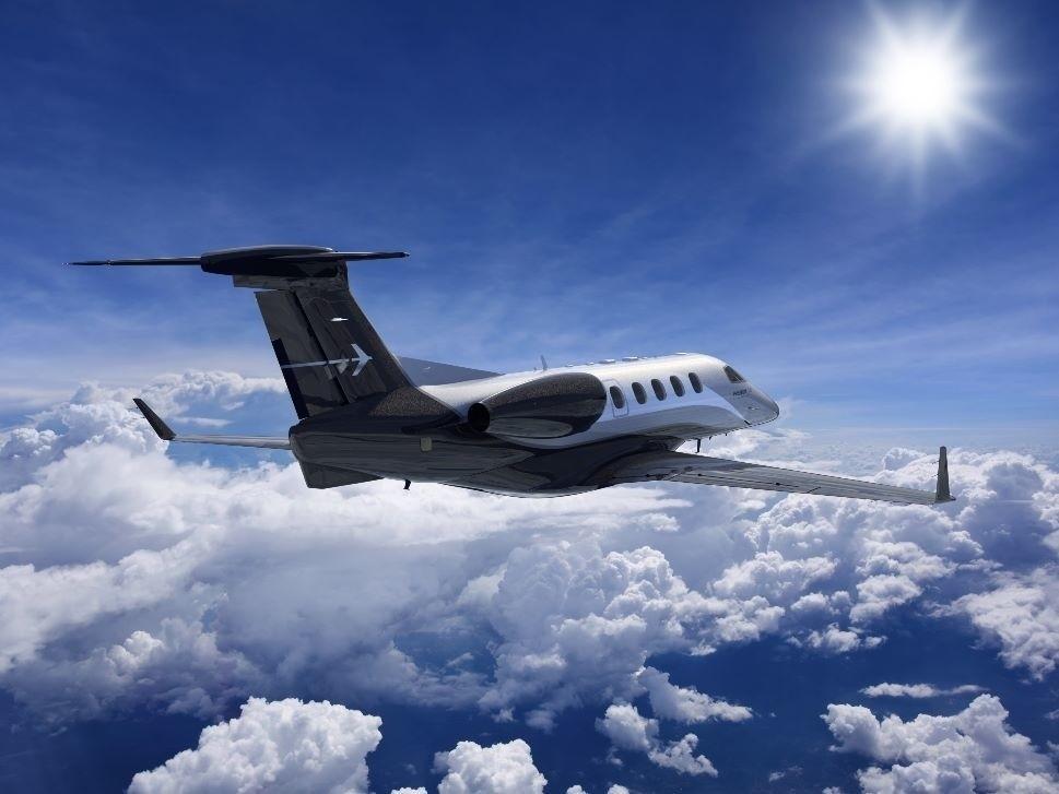 Embraer Phenom 300 Private Jet in Flight