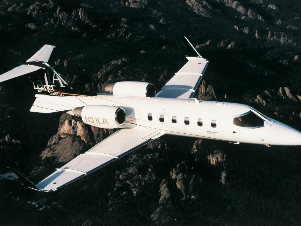 Bombardier Learjet 31A in Flight