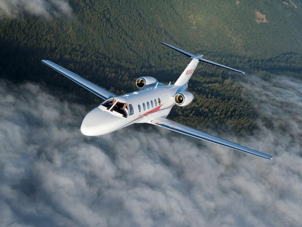 Cessna Citation CJ2 In Flight