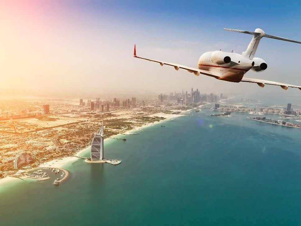 Planning to fly a business jet to the Middle East