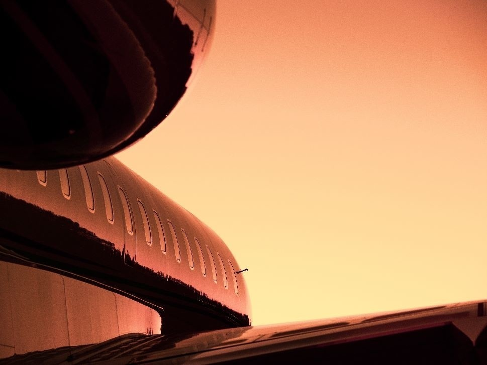 Market Insights - Private Jet at Sunset