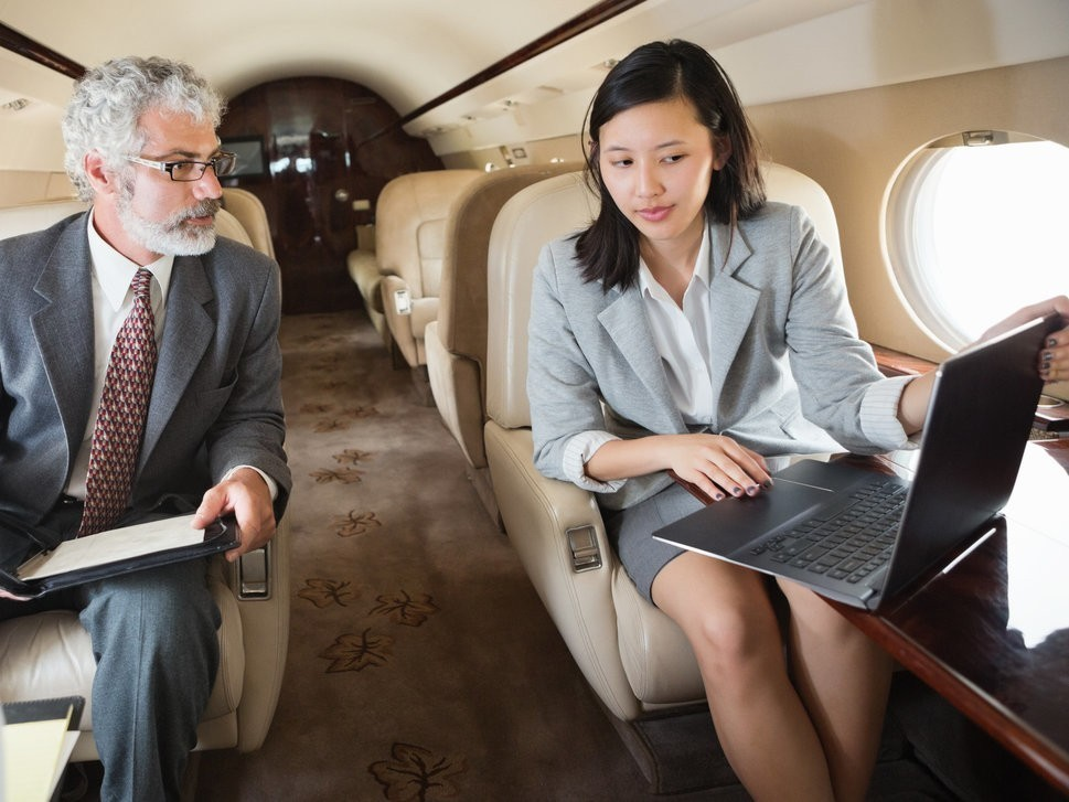 Asian Business Jet with Executives