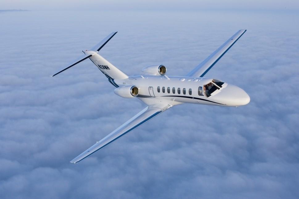 Cessna Citation CJ3 in flight