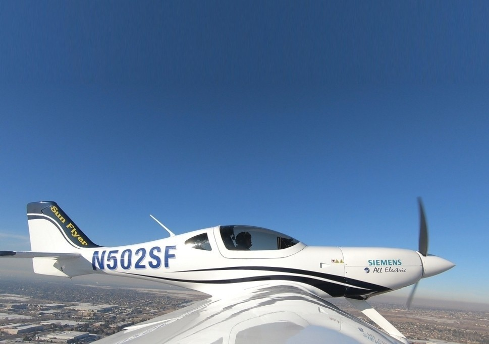 SunFlyer Aircraft Prototype with Siemens Electric Engine