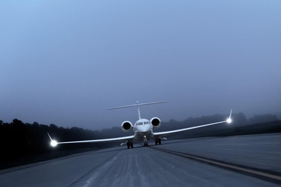 Gulfstream Private Jet Prepared for Take-Off