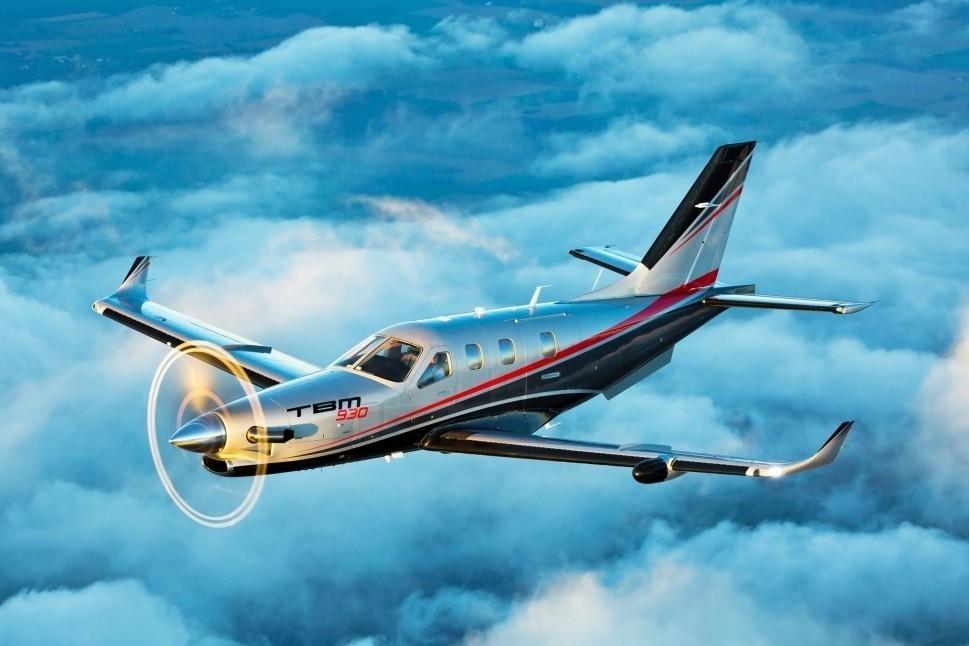 Daher TBM 930 in flight