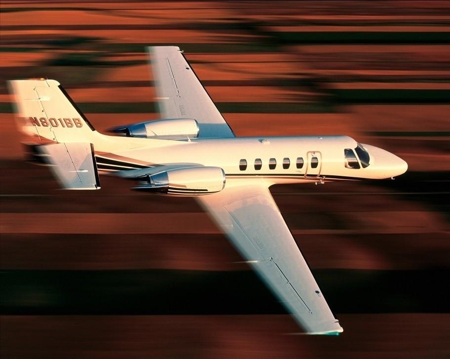 Cessna Citation Bravo in Flight