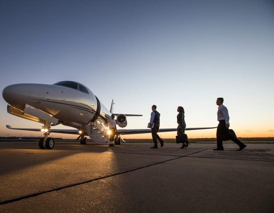 Cessna Citation Latitude with Passengers Boarding