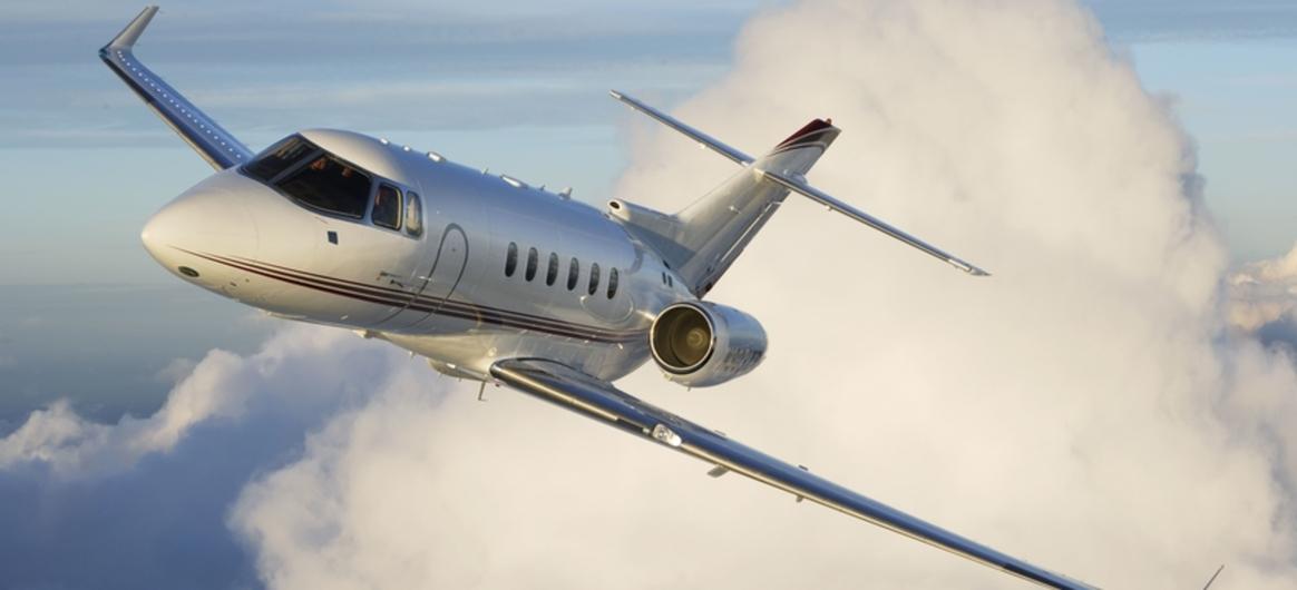 Hawker 900xp in sky