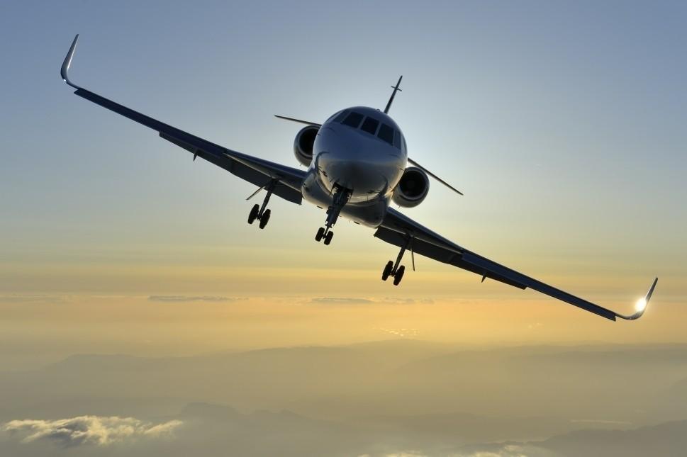 Dassault Falcon Jet Front View