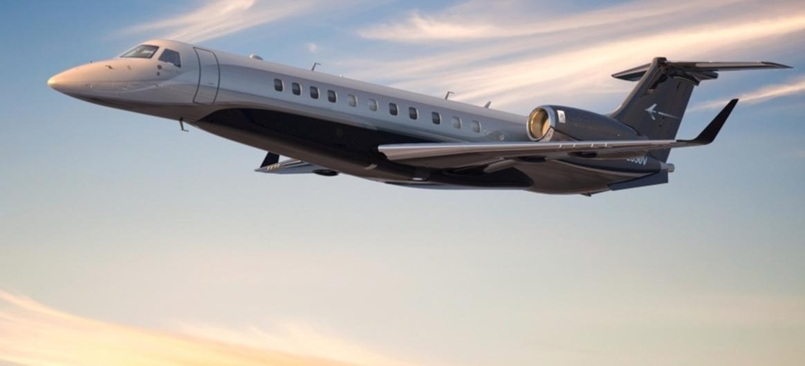 Embraer Legacy 650 Jet In Flight Daytime