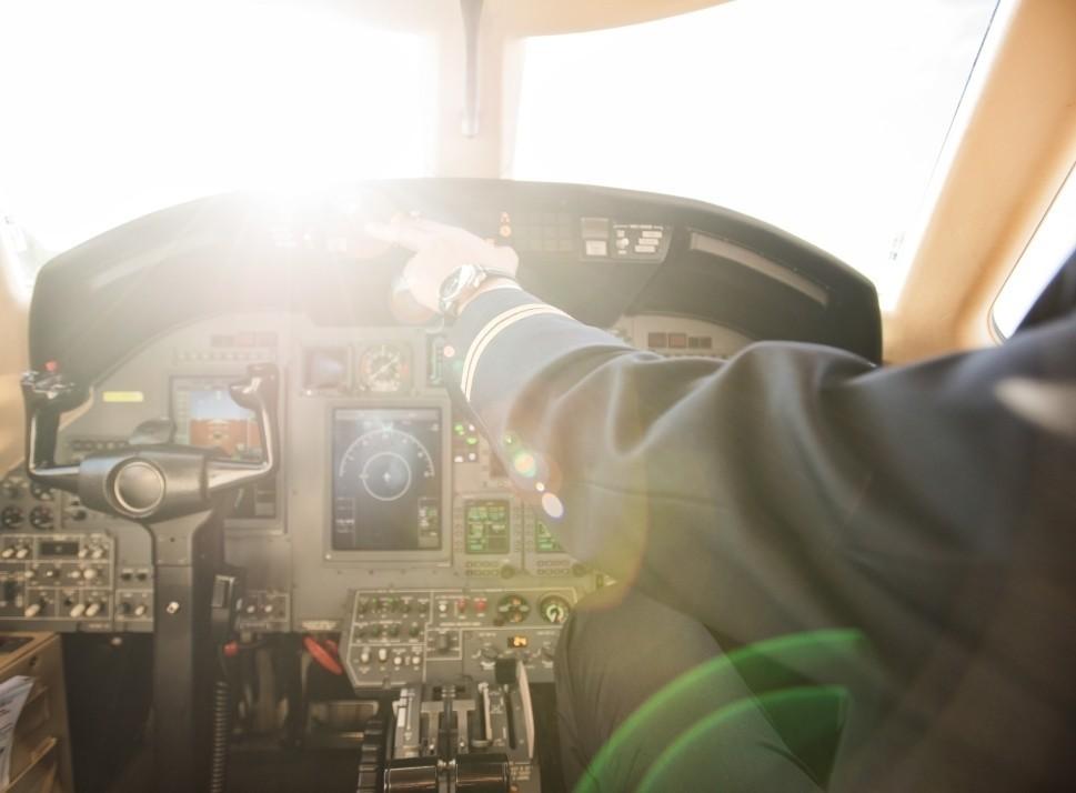 Private Airplane Avionics Panel