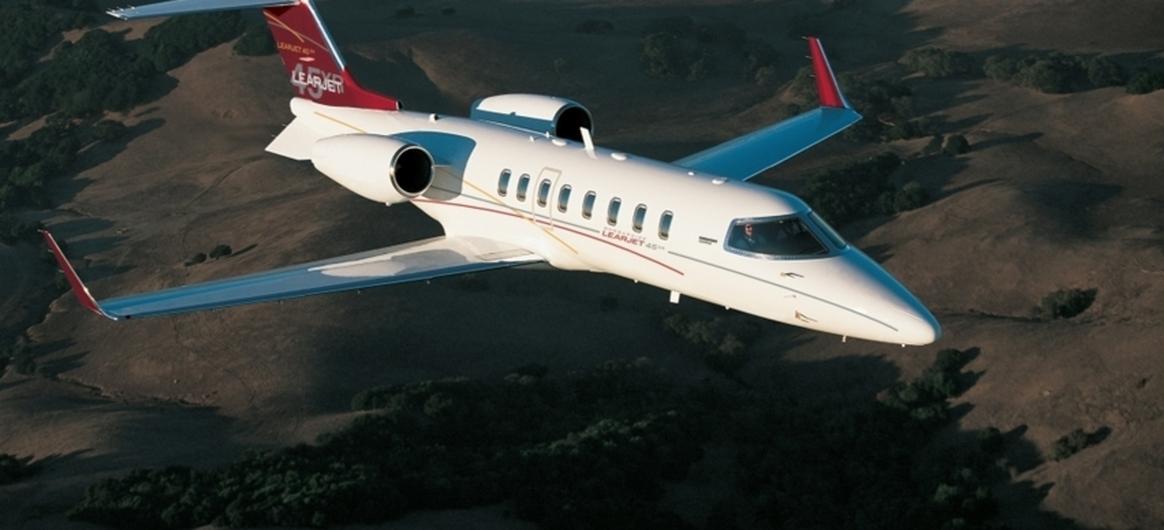 Bombardier Learjet 45XR In-Flight