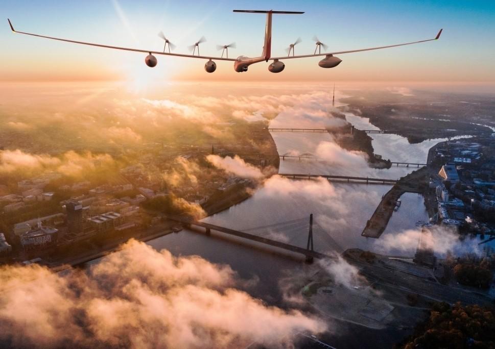 Antares E2 Flies over Rotterdam