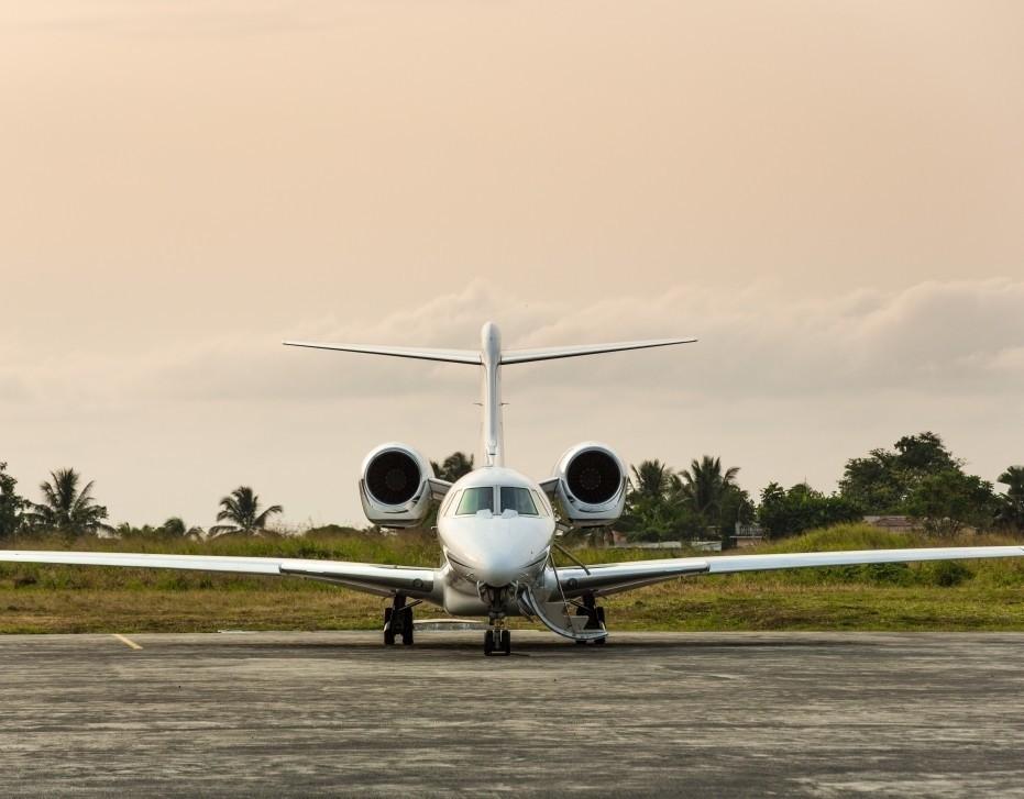 Cessna Citation X Private Jet front view