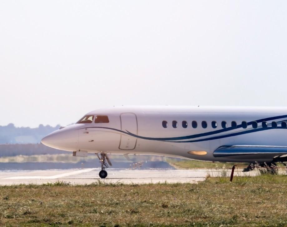 Private Jet on Regional Airport Runway