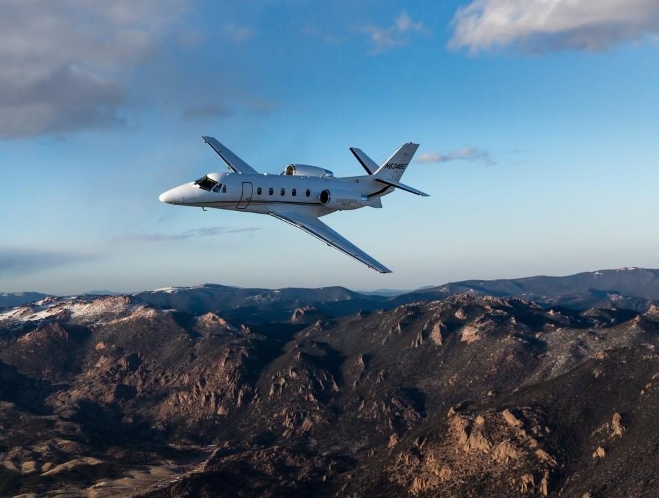 Cessna Citation XLS+ In-Flight