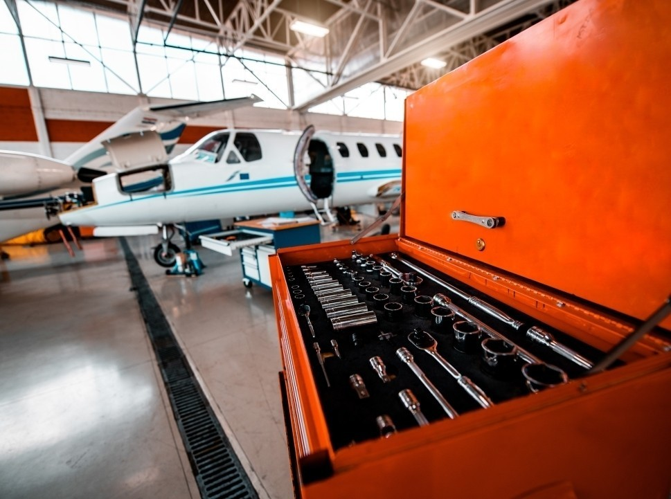 Aircraft Repair Toolkit with Cessna Citation Private Jet