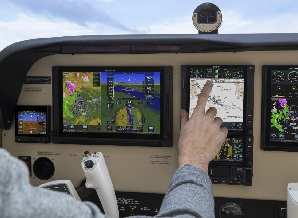 A Garmin GTN Xi Unit Installed in a Piston Airplane's Flight Panel