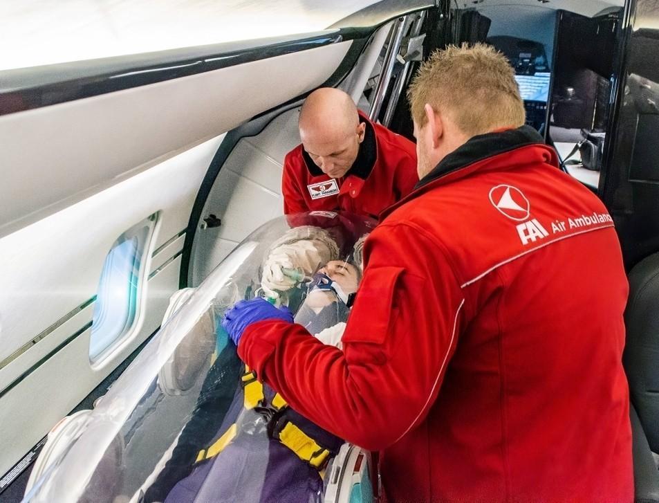 FAI Air Ambulance Team Treat COVID-19 Patient In-Flight