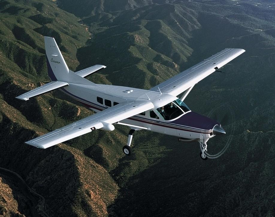 Cessna Caravan 208 Turboprop in Flight