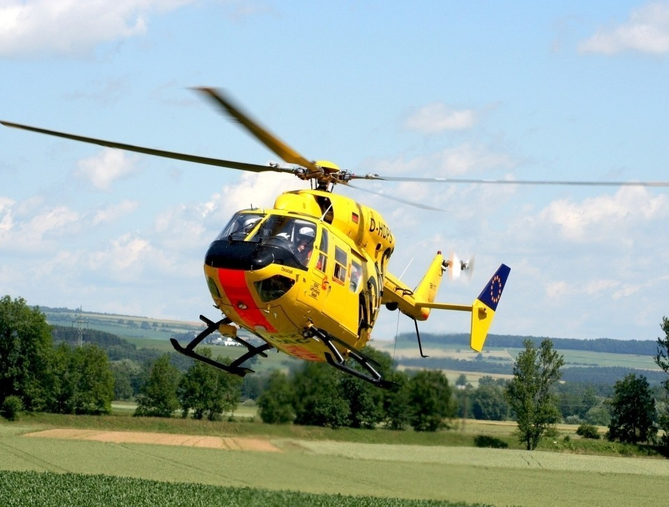 Air Ambulance helicopter in action