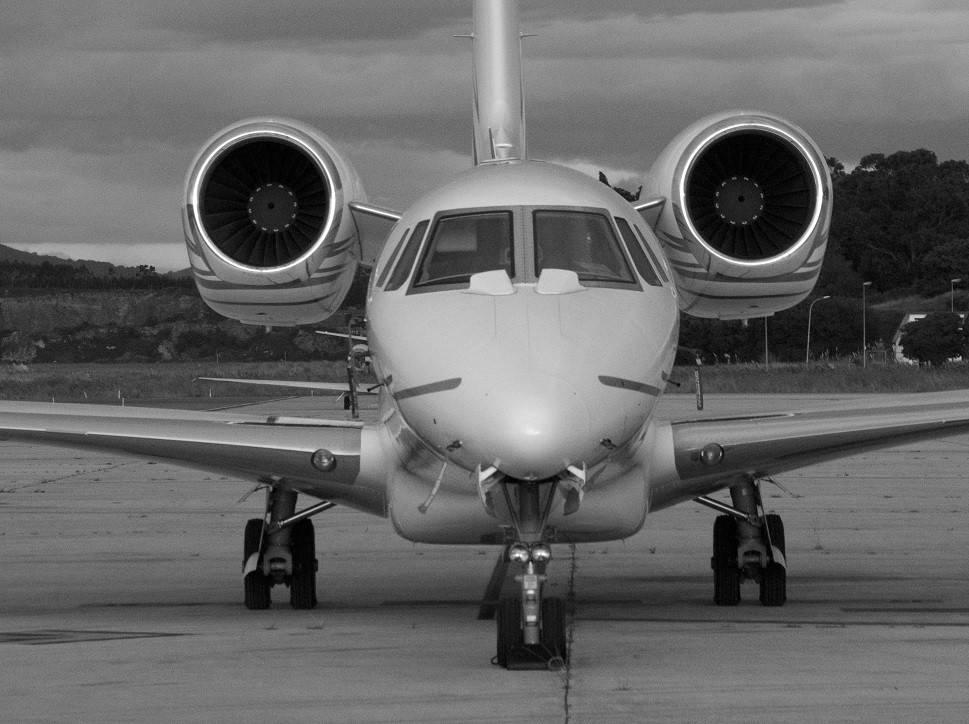 Cessna Citation X Private Jet parked at airport