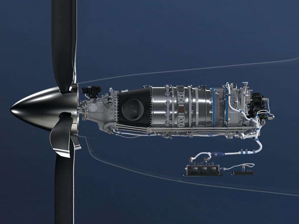 Depiction of Pratt & Whitney's PT6 E series engine