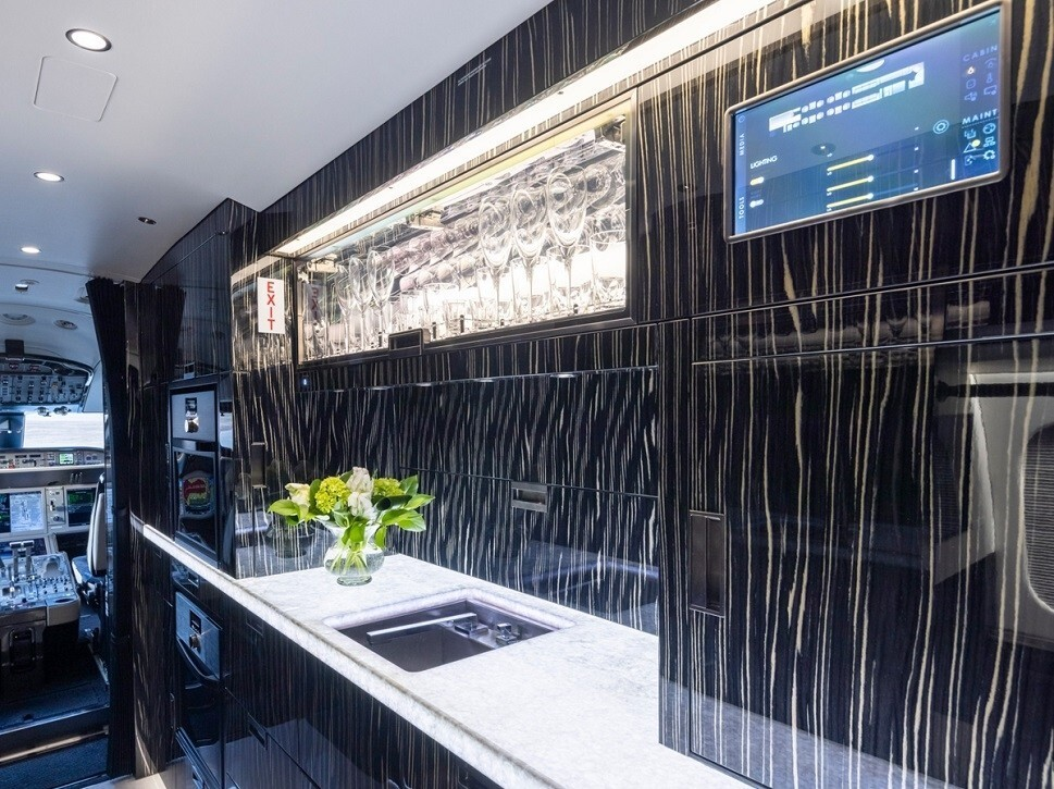 Illuminated galley Surface System developed by F/LIST for airplanes