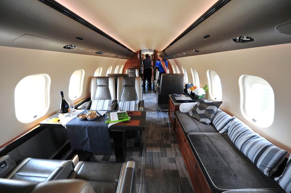 Global 6000 Jet Interior Shot