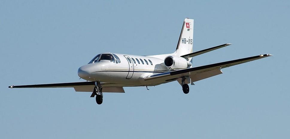 Cessna Citation II mid air