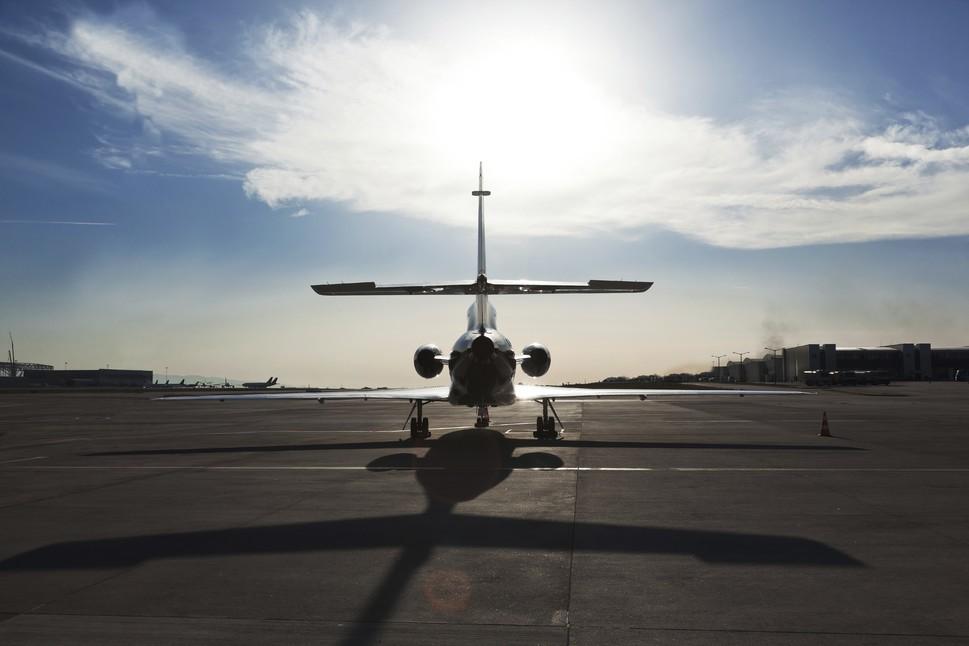 Dassault Falcon Jet on the Ramp