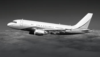Airbus A319 In the sky