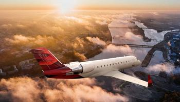 Bombardier Challenger CRJ-200 In the sky
