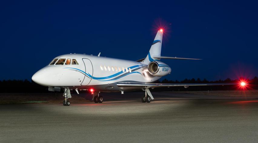 Dassault Falcon 2000 on the runway