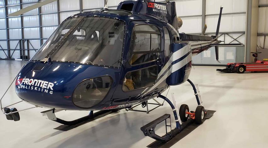 2010 eurocopter as350b2 in hangar