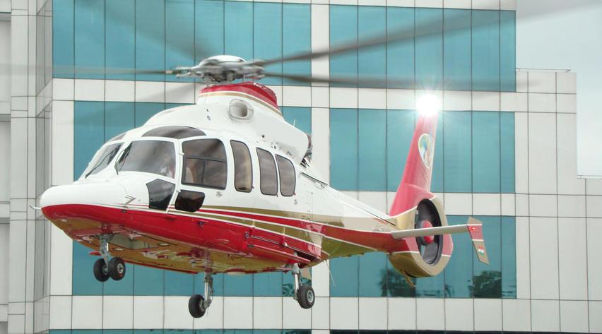 2007 eurocopter ec155b1 helicopter in flight