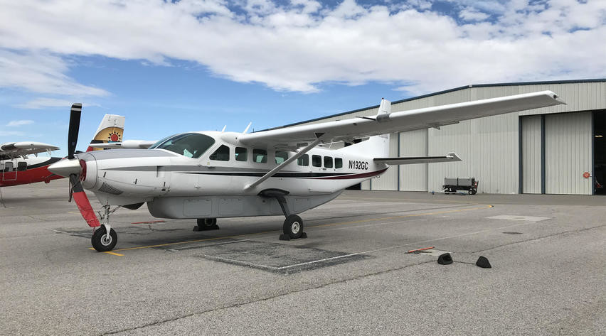 2008 cessna 208b grand caravan shown outside hangar
