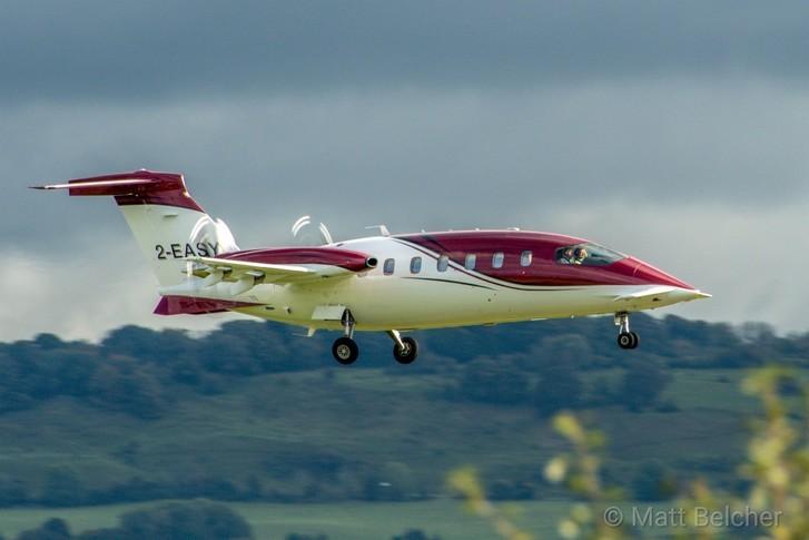 2009 piaggio p180 avanti II exterior in flight