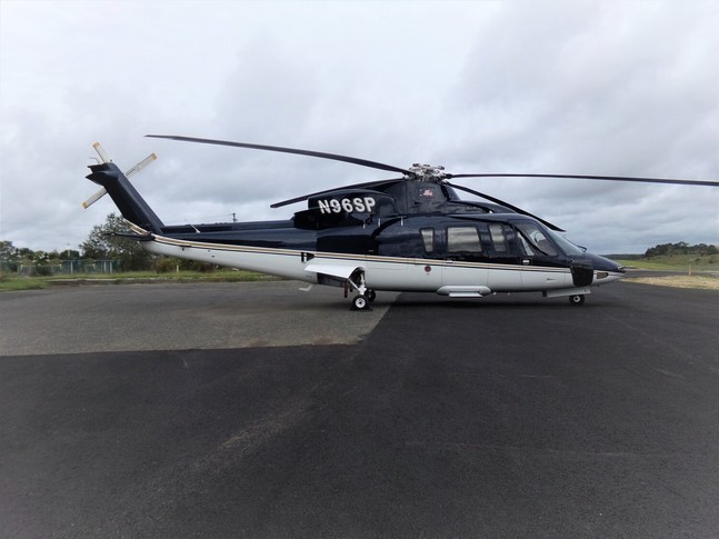Sikorsky S-76C+ on the runway