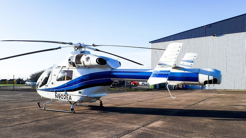 McDonnell Douglas Helicopter 902 Explorer tail view